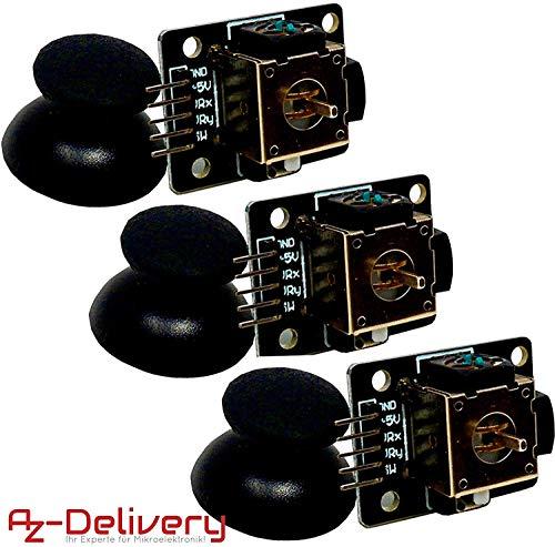 AZDelivery ⭐⭐⭐⭐⭐ Joystick Breakout Moduli KY-023 Il cablaggio del joystick +5V è collegato a 5V presso l'Arduino GND è collegato a GND VRx è collegato a A1VRy è collegato a A0 MS è collegato a D7Applicazione: Il modulo Breakout per il tuo pro...