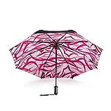 LYYUMBRELLAS Inteligente acompañado por Paraguas sombrilla Paraguas Doble Capa Doble Paraguas Paraguas Anti-UV Paraguas Dom Femenino (Color : Pink)
