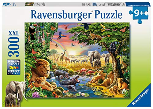 Ravensburger- Evening at The Waterhole Puzzle 300 Piezas, (1)