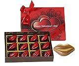 Zoroy Luxury Chocolate Valentines Day Kisses- Box With 12 Milk Chocolate Kisses