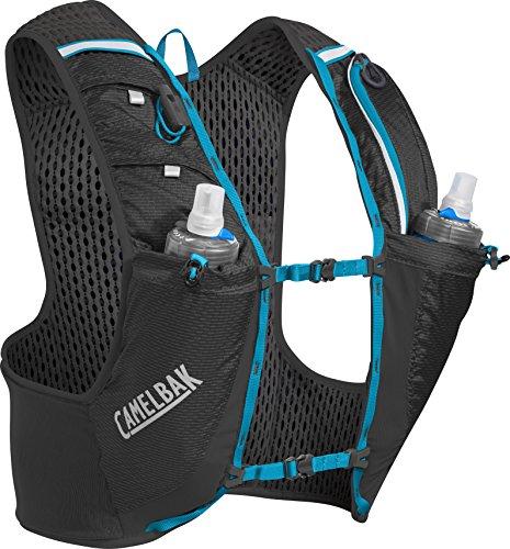 CamelBak Ultra Pro Mochila de Hidratación, Hombre, Negro/Azul (Atomic Blue), M