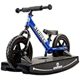 Strider 12 Sport Balance Bike and Baby Rocking Base (Blue). 6+ months.