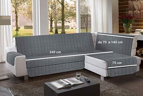 la biancheria di casa Simplicity Plus Angle Copri Salva Divano per divani ad Angolo (245 cm, Grigio...