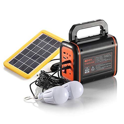 Central eléctrica portátil, 32Wh / 8000MAH Generador solar, Central eléctrica portátil Batería de reserva de emergencia Fuente de alimentación para acampar Panel solar cargado / DC 6V-0.7A Puerto