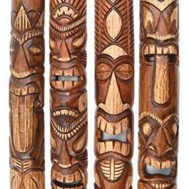 4 Tiki Maschere 100cm Im Hawaii Stile Maschera Legno Maschera Isola