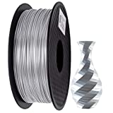 PLA Filament 1.75mm Silk Argent, GIANTARM Imprimante 3D Filament PLA 1kg Spool