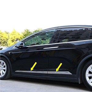 Tesla Model X Chrome Door Trim Set
