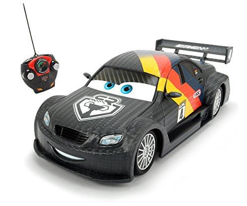 Disney Coche teleridigido con diseño de MAX Schnell, de Cars,, Escala 1:24
