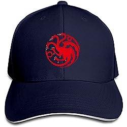 hmkolo casa Targaryen de aterrizaje del Rey Sandwich gorras de béisbol para Unisex ajustable, Marino