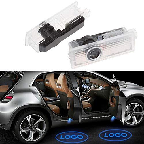 BSVLIA Luce per proiettore per Porta Auto, 2 Pezzi Logo Auto luci di Benvenuto per Auto a LED luci...
