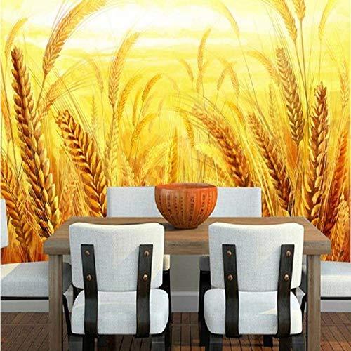 Foto formato 2019 2019 murales TV sfondo soggiorno divano hall camera da letto raccolta grano dorato...