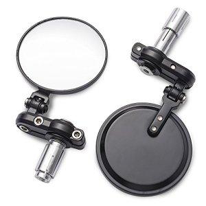 """MICTUNING 3 Zoll Rund Rückspiegel klappbar Universal für 7/8"""" Rückfahrkamera Vista Seitengriff Stange für runde Rückspiegel Motorrad (Pack of 2) 1"""