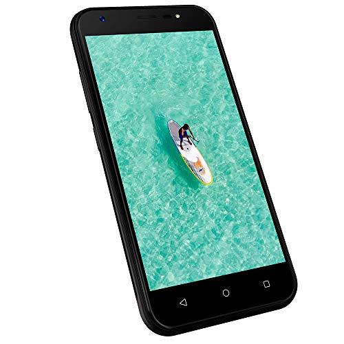 3G Smartphone ohne vertrag günstig, Dual SIM Handys Android 7.0, 1GB+8GB ROM, 5 Zoll HD 1280 * 720 Display, Kamera 8MP+5MP, 2400mAh Akku Wieppo S5 (Schwarz)