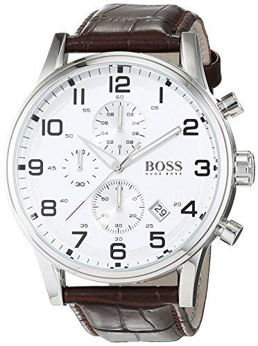 Hugo Boss Herren-Armbanduhr HB-2006 Chronograph Quarz Leder 1512447