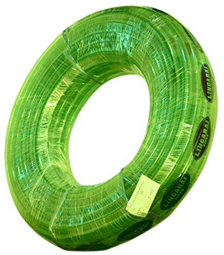 LINGARAJ Easy to Connect 0.5 inch PVC Flexible Hose Pipe Use for Garden Watering (30 m Long Length Tube 100 ft Approx, Green)