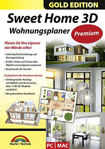 Sweet Home 3D Wohnungsplaner - Premium Edition mit zusätzlichen 1.100 3D Modelle und gedrucktem...