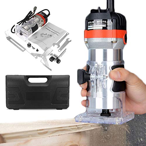 Drillpro Electric Hand Trimmer Wood Router Joiners Lift Knob Thicker 35000R/Min 220V