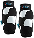 Cube Action Team Elbow Pads - Black/White, Large / Bicycle Cycling Cycle Biking Bike Off Road MTB Mountain Riding Ride Safety Safe Protection Protective Protector Protect Padding Guard Arm Downhill Dirt Jump Trail Enduro Upper Body Adult Unisex Man