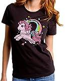 Hasbro My Little Pony - T-Shirt - Maniche Corte - Donna Nero Large