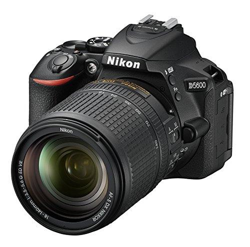 Nikon D5600 Fotocamera Reflex Digitale con Obiettivo AF-S DX NIKKOR 18-140mm VR, 24,2 Megapixel, LCD Touchscreen ad Angolazione Variabile 3', Nero