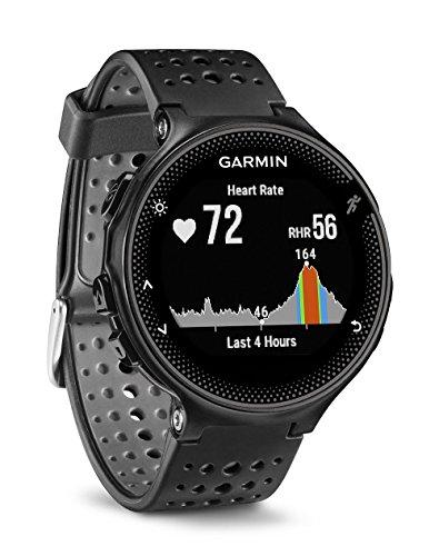 Garmin Forerunner 235 - Reloj con pulsómetro en la muñeca, unisex, color negro y gris, talla única