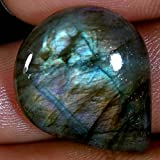 19.80 CTS. 100% natural multi Purple Power labradorite pera Cab sciolto pietre preziose