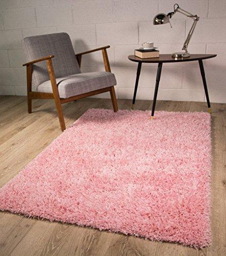 The Rug House Tappeto Ontario shaggy extra-morbido antiscivolo, colore rosa - Disponibile in 4...
