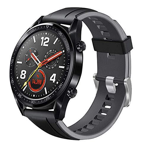Cobar Watch Band Replacement for Huawei Watch GT, 22mm Rilascio rapido Regolabile Morbido Silicone Cinturino dell'orologio Sportivo Sostituzione per Huawei Watch GT/ 2 Classic/ 2 PRO
