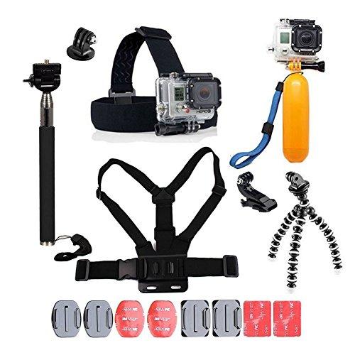 YHTSPORT per Accessori GoPro, GoPro Kit di Accessori per GoPro Hero 6543sessione Eroe e SJ4000Xiaomi Yi Dbpower e Altri Sport Fotocamere, Black