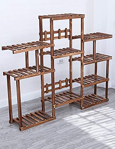NA home Fine Flower Stand in legno, Plant Theatre Pavimenti in legno a più piani Balcone Interior Modern Living Room with Plant Rack Regalo ideale per i giardinieri,1