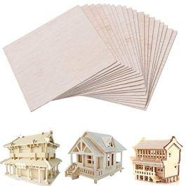 20 fogli di legno di balsa per modellismo, artigianato, hobby, pittura, per fai da te, casa, nave, a