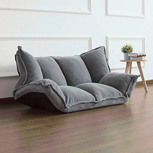 ZZSF Mobili da Pavimento reclinabili futon Giapponese Divano Letto Pigro Moderno Pieghevole Regolabile traversina Chaise Longue reclinabile Soggiorno Divano lettini da Interno Gray