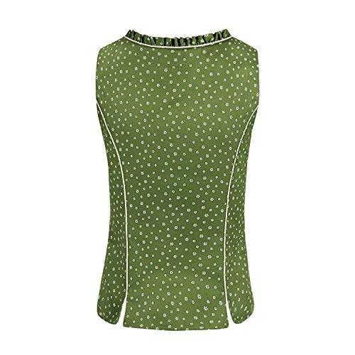 ALMBOCK Trachten Mieder Damen grün | Stretch Trachtenmieder in grün | Tracht Weste für Dirndl - 4
