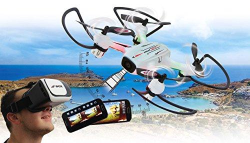 Jamara 422029 - Angle 120 Altitude HD WiFi VR - incl. Visore VR, Altitude Hold Adj., Bussola/Flyback, Track Follow, 120°, Avviso Bassa tens., 40 Km/h