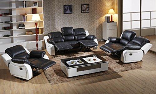 Mapo Möbel Voll-Leder Sofagarnitur Fernsehsofas Relaxsofas 5129-3+2+1-SW