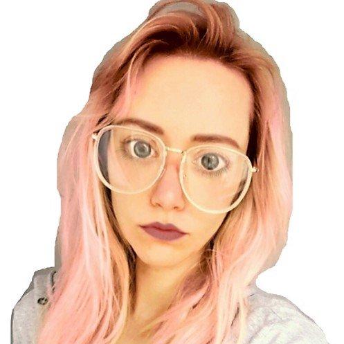 Blogger Fashion Brille, gold mit klaren Gläsern von PREMIJU hot-shop