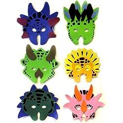 12 Foam Dinosaur Animal Masks - Fancy Dress party by Ark Toys