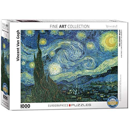 Puzzle 1000 pezzi 19,25'X26.5'-Van Gogh - notte stellata