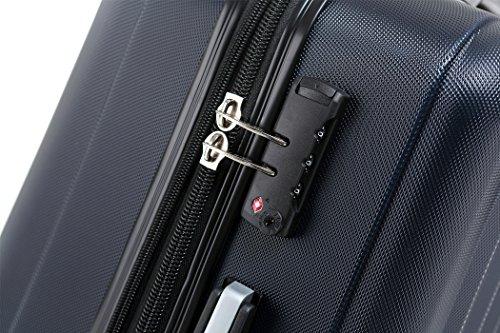 BEIBYE TSA-Schloß 2080 Zwillingsrollen 3 tlg. Reisekofferset Koffer Kofferset Trolley Trolleys Hartschale (Dunkelblau) - 2