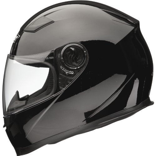Shox Casque de moto solide noir Noir mat petit