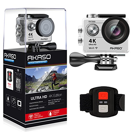AKASO EK7000 4K WIFI Sports Action Camera Ultra HD Waterproof DV Camcorder 12MP 170 Degree Wide...