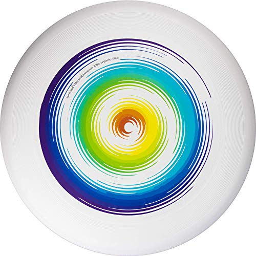 Eurodisc Ultimate - Frisbee de competición, vuelo estable de más de 100 m, 175 g, diseño de arco iris