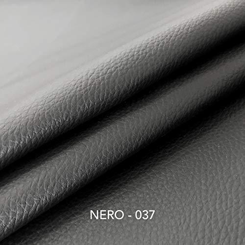 Panini Tessuti Tessuto Ecopelle Morbida Finta pelle-100x140 CM-per arredo DIVANI, SEDIE,Borse(Nero)