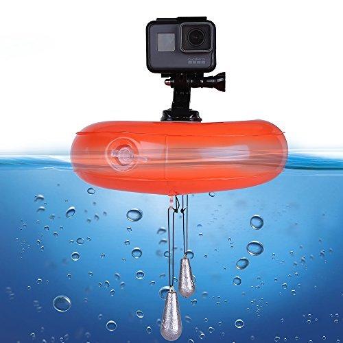 Telesin Floating Disc, Gopro camera di aria galleggiante impermeabile in PVC gonfiabile Surf supporto per GoPro Hero 5/4/3+/3SJCAM SJ4000/5000/6000Xiaomi Yi Action Camera