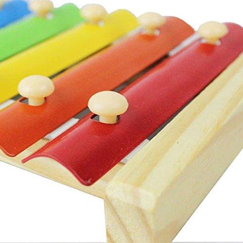 TOOGOO(R) Bambini Giocattoli Musicali Sviluppo Xilofono Strumenti di legno Inspire la musica di tale