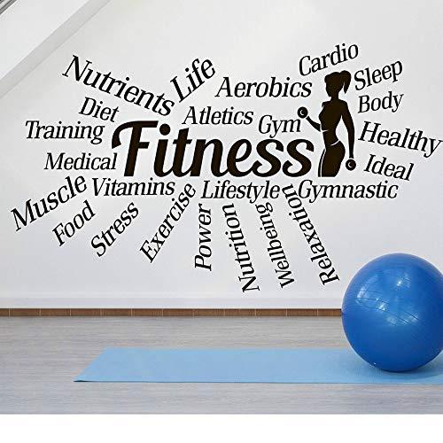 SLQUIET Fai da Te Sport Palestra Parole motivazionali Decalcomanie Fitness Salute Adesivi murali...