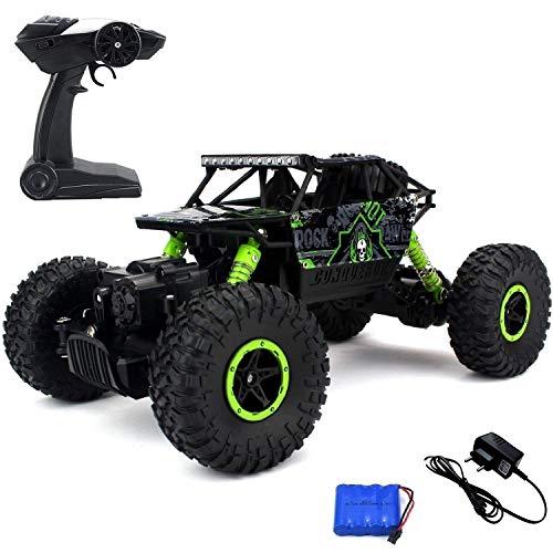 Ajudiya's Rock Crawler Off Road Race Monster Truck 4WD 2.4GHz, Green