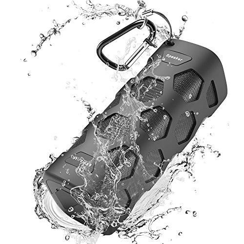 Bluetooth Lautsprecher Wasserdicht, Donerton Portable Bluetooth Speaker, 24h Spielzeit und 20W Dual-Treiber Outdoor Tragbarer Lautsprecher mit 5200 mAh Power Bank und Ingebauten Mikrofons