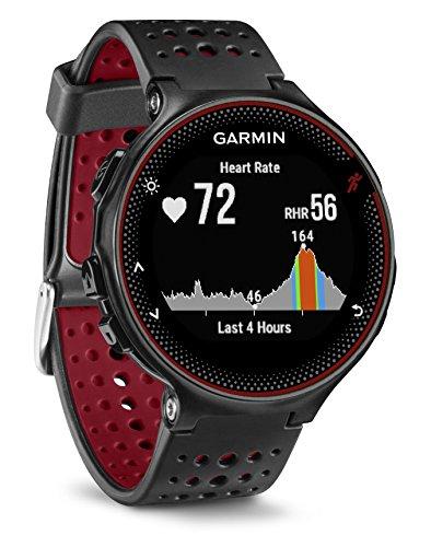 Garmin Forerunner 235 GPS Sportwatch con Sensore Cardio al Polso e Funzioni Smart, Nero/Rosso...