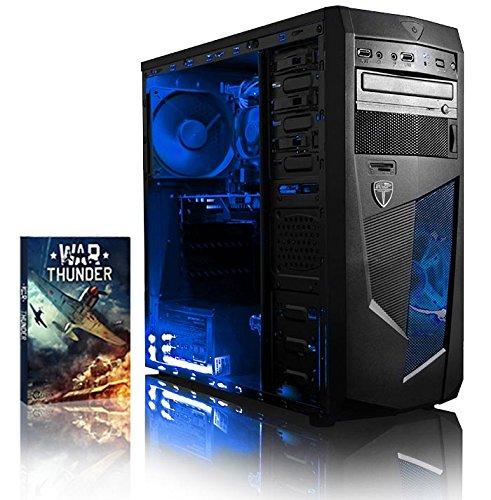Vibox Precision 6 - Ordenador de sobremesa (AMD FX-4300, 8 GB de RAM, 1000 GB, Nvidia GT 730, no operating system), color negro